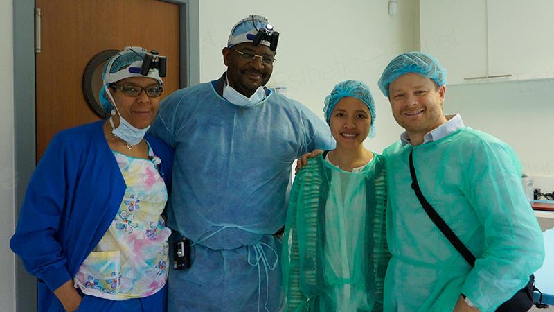 Equipe Hairmed chez Dr Mwamba